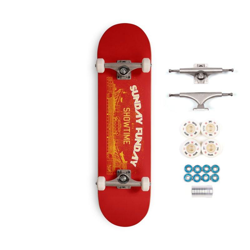 Sunday Funday Accessories Complete - Premium Skateboard by redleggerstudio's Shop