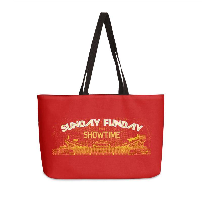 Sunday Funday Accessories Weekender Bag Bag by redleggerstudio's Shop