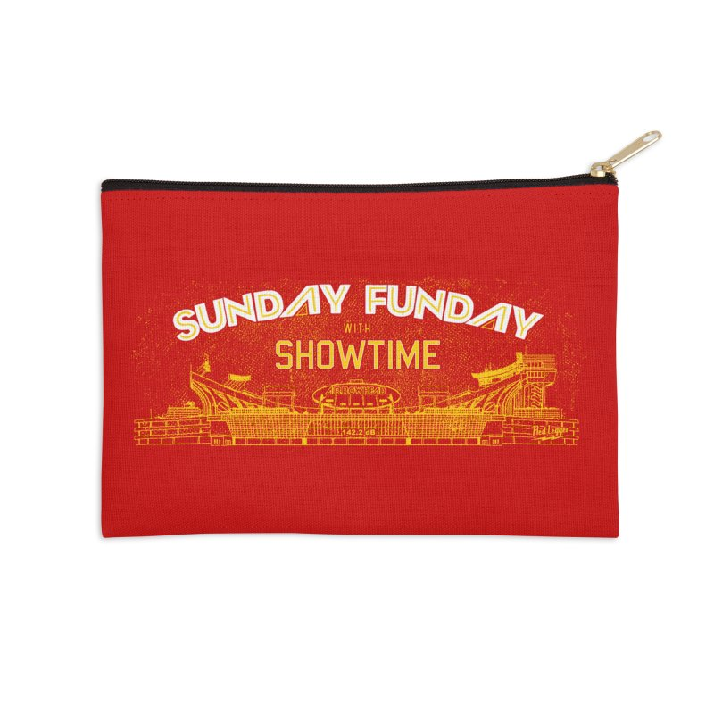 Sunday Funday Accessories Zip Pouch by redleggerstudio's Shop