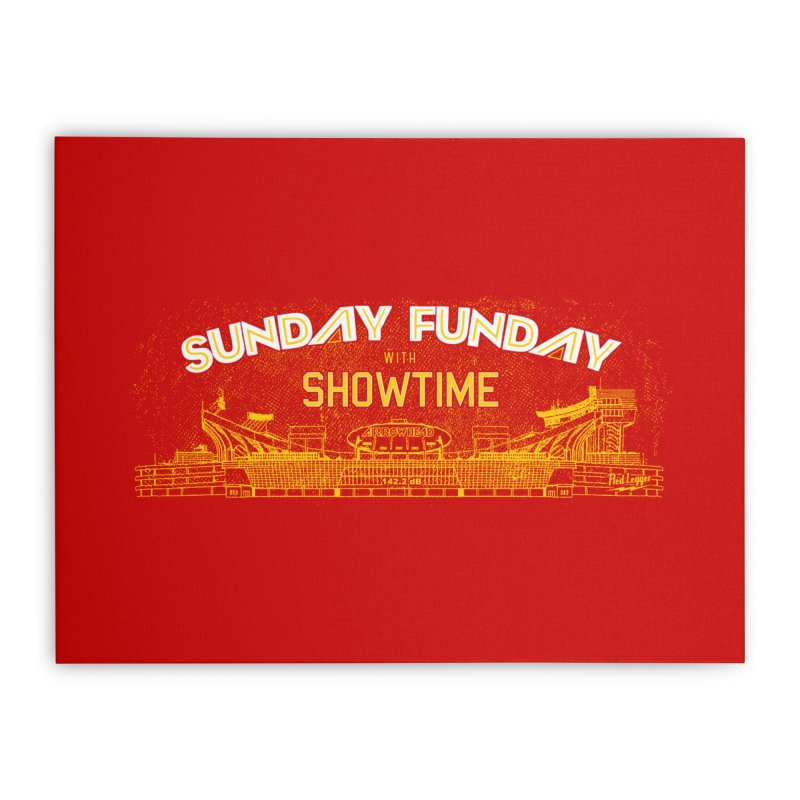 Sunday Funday Home Stretched Canvas by redleggerstudio's Shop