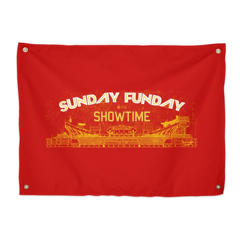 Sunday Funday Home Tapestry by redleggerstudio's Shop