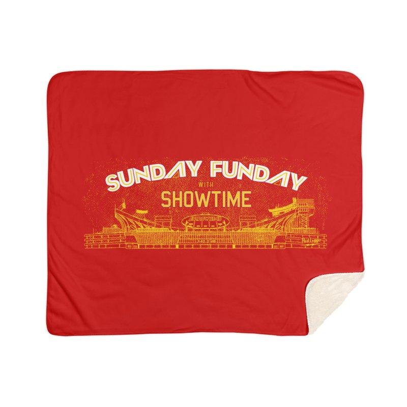 Sunday Funday Home Sherpa Blanket Blanket by redleggerstudio's Shop