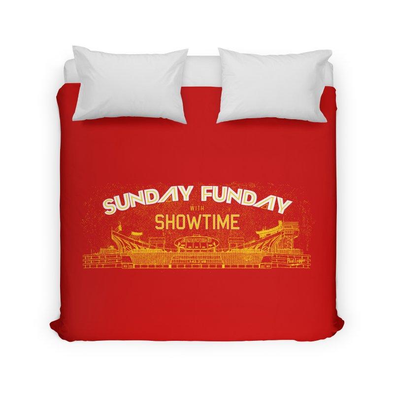 Sunday Funday Home Duvet by redleggerstudio's Shop