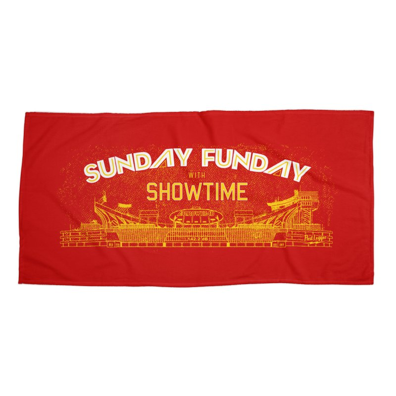 Sunday Funday Accessories Beach Towel by redleggerstudio's Shop