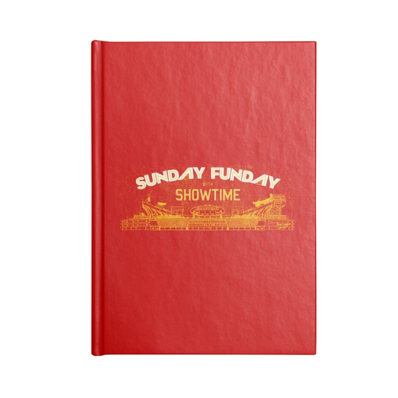 Sunday Funday Accessories Lined Journal Notebook by redleggerstudio's Shop