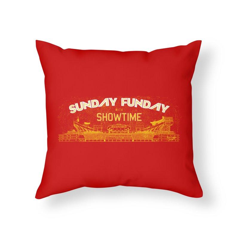 Sunday Funday Home Throw Pillow by redleggerstudio's Shop