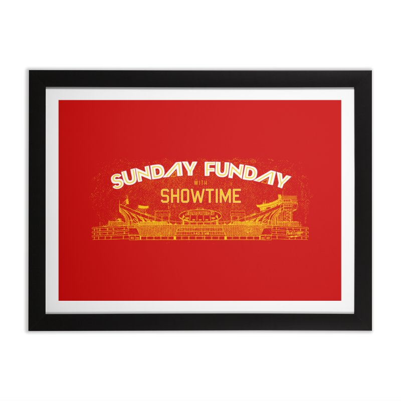 Sunday Funday Home Framed Fine Art Print by redleggerstudio's Shop