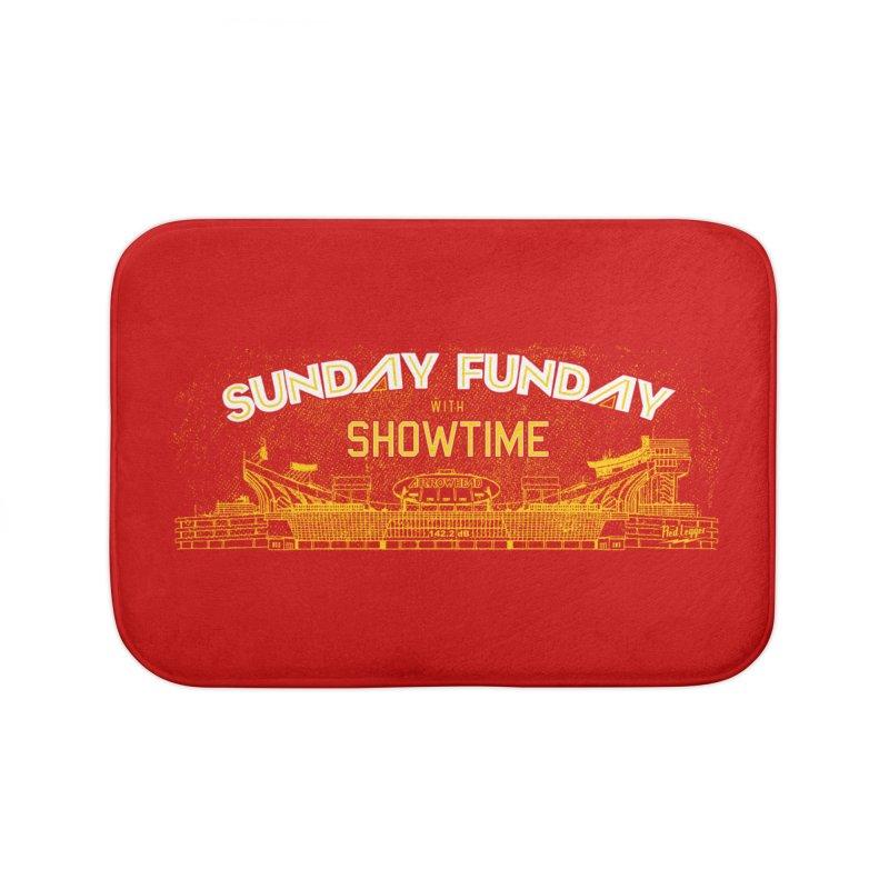 Sunday Funday Home Bath Mat by redleggerstudio's Shop