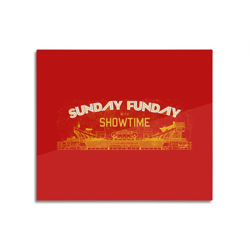 Sunday Funday Home Mounted Aluminum Print by redleggerstudio's Shop