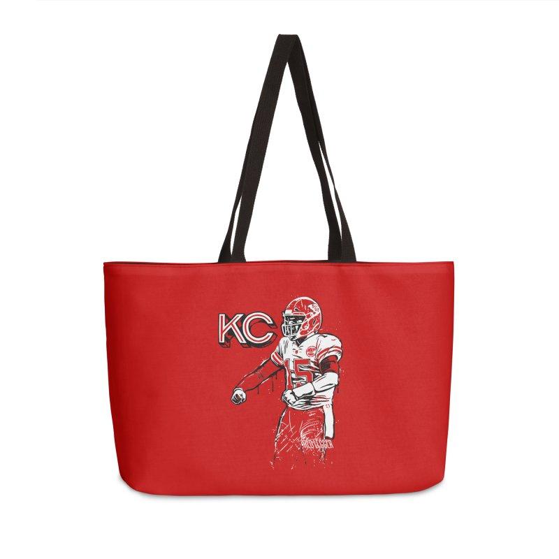 MVP Accessories Weekender Bag Bag by redleggerstudio's Shop