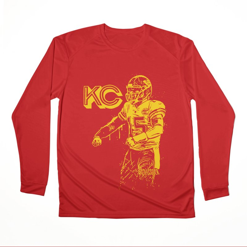 MVP (Yellow) Men's Performance Longsleeve T-Shirt by redleggerstudio's Shop