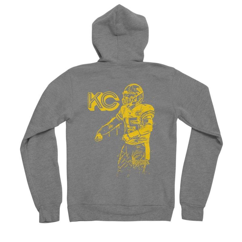 MVP (Yellow) Men's Sponge Fleece Zip-Up Hoody by redleggerstudio's Shop
