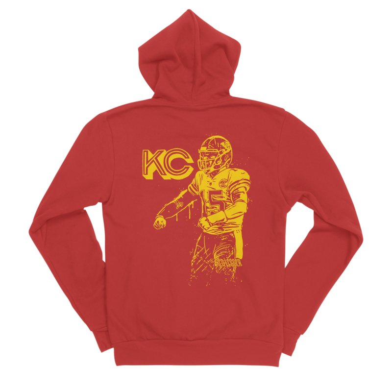 MVP (Yellow) Men's Sponge Fleece Zip-Up Hoody by redleggerstudio's Shop