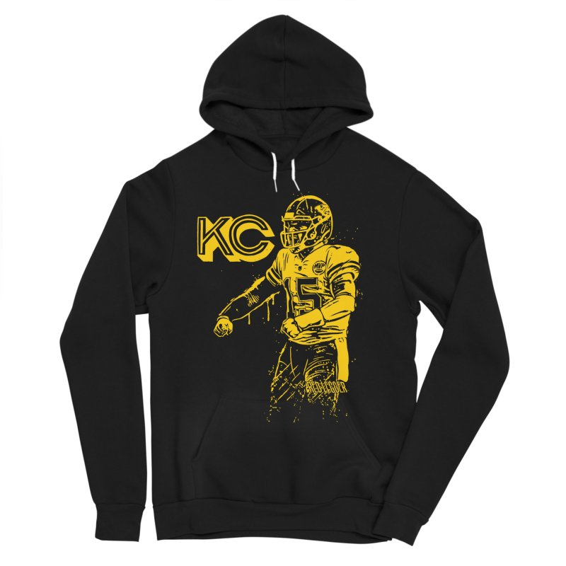 MVP (Yellow) Men's Sponge Fleece Pullover Hoody by redleggerstudio's Shop