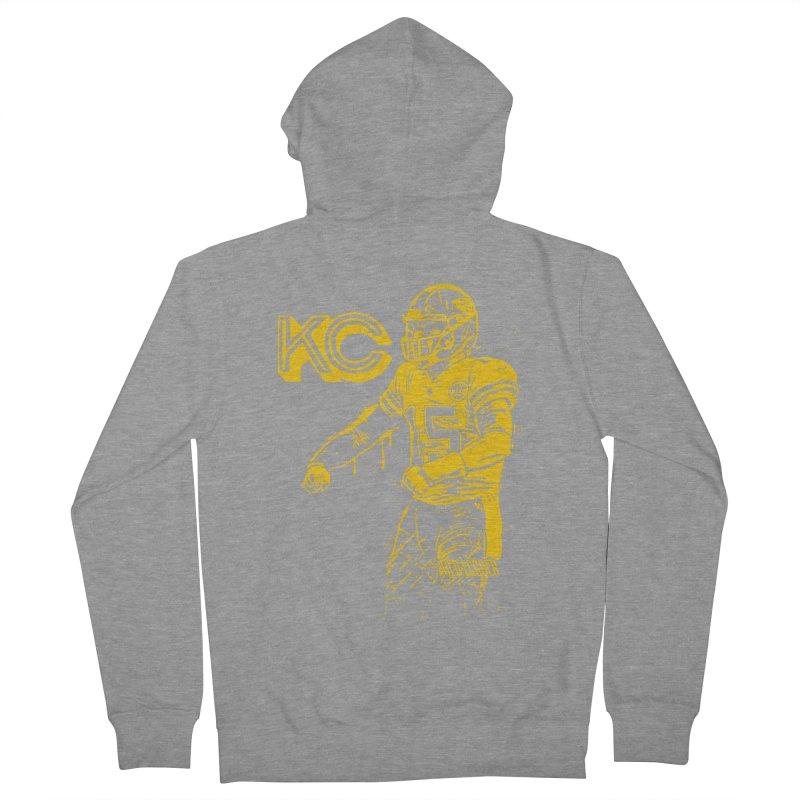 MVP (Yellow) Men's French Terry Zip-Up Hoody by redleggerstudio's Shop