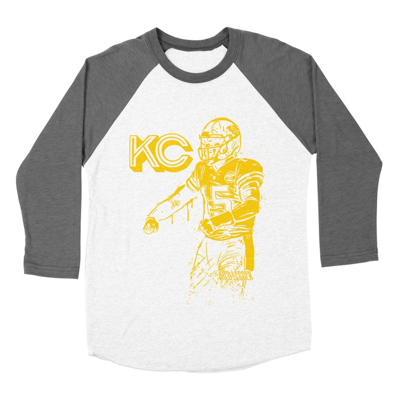 MVP (Yellow) Women's Baseball Triblend Longsleeve T-Shirt by redleggerstudio's Shop
