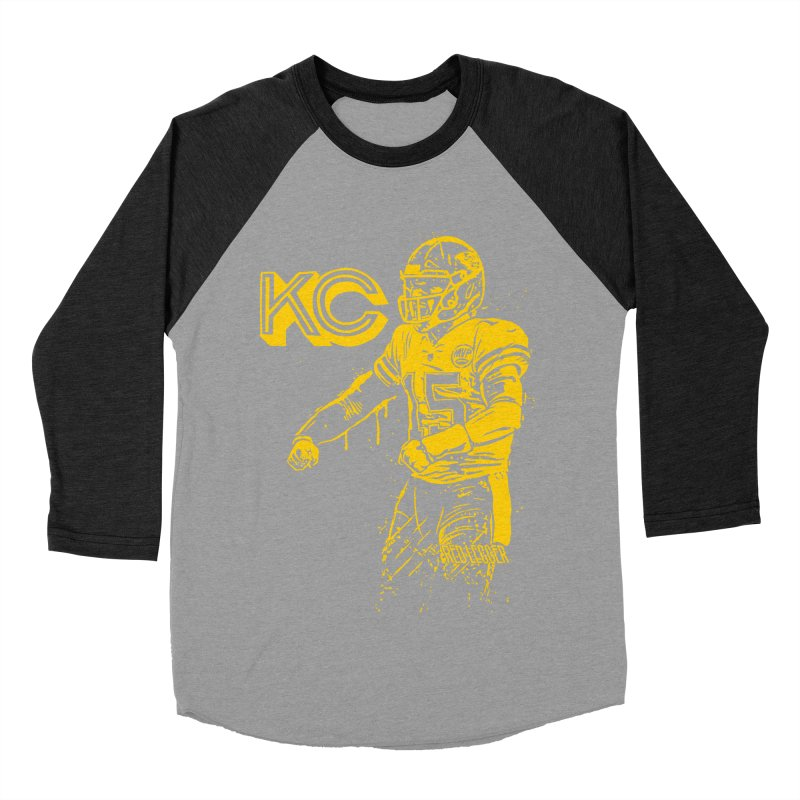 MVP (Yellow) Men's Baseball Triblend Longsleeve T-Shirt by redleggerstudio's Shop