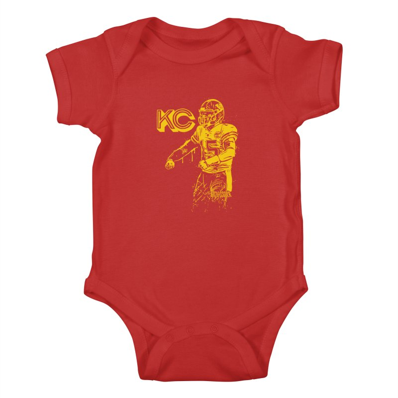 MVP (Yellow) Kids Baby Bodysuit by redleggerstudio's Shop