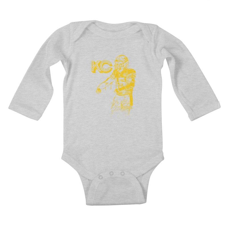 MVP (Yellow) Kids Baby Longsleeve Bodysuit by redleggerstudio's Shop