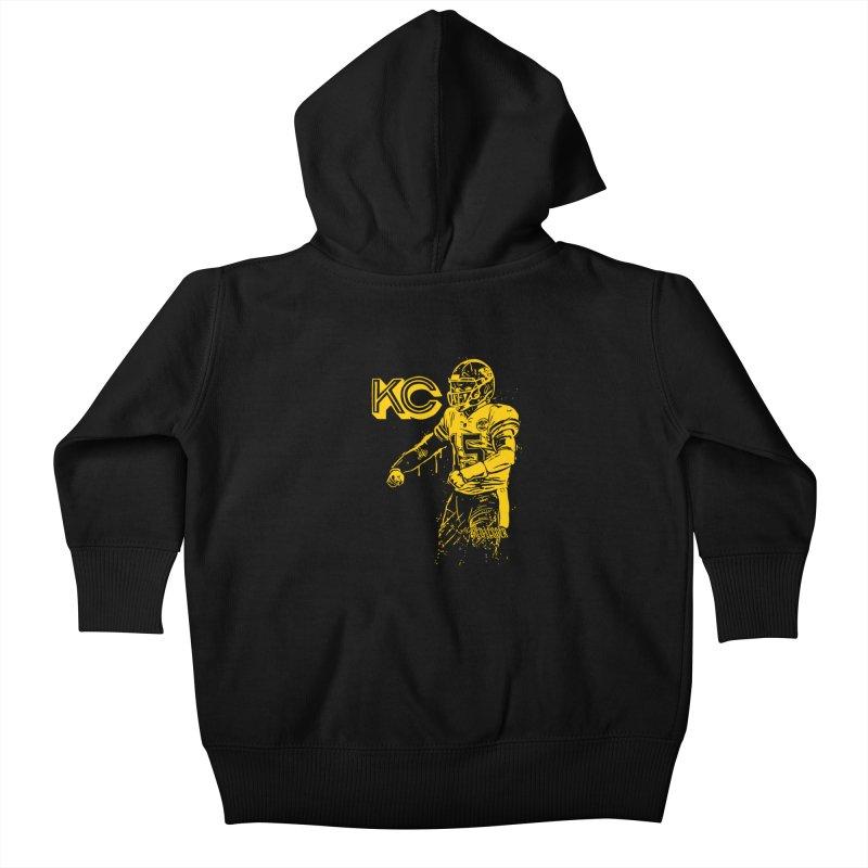 MVP (Yellow) Kids Baby Zip-Up Hoody by redleggerstudio's Shop