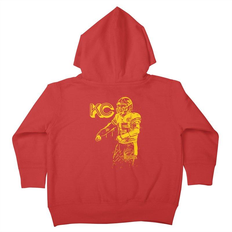 MVP (Yellow) Kids Toddler Zip-Up Hoody by redleggerstudio's Shop