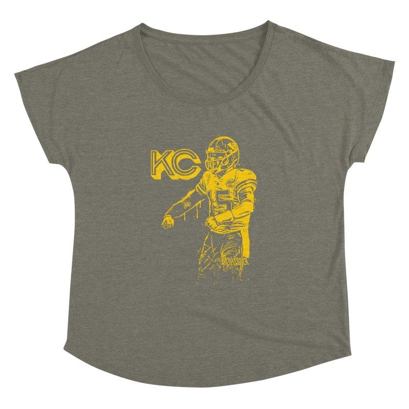 MVP (Yellow) Women's Dolman Scoop Neck by redleggerstudio's Shop