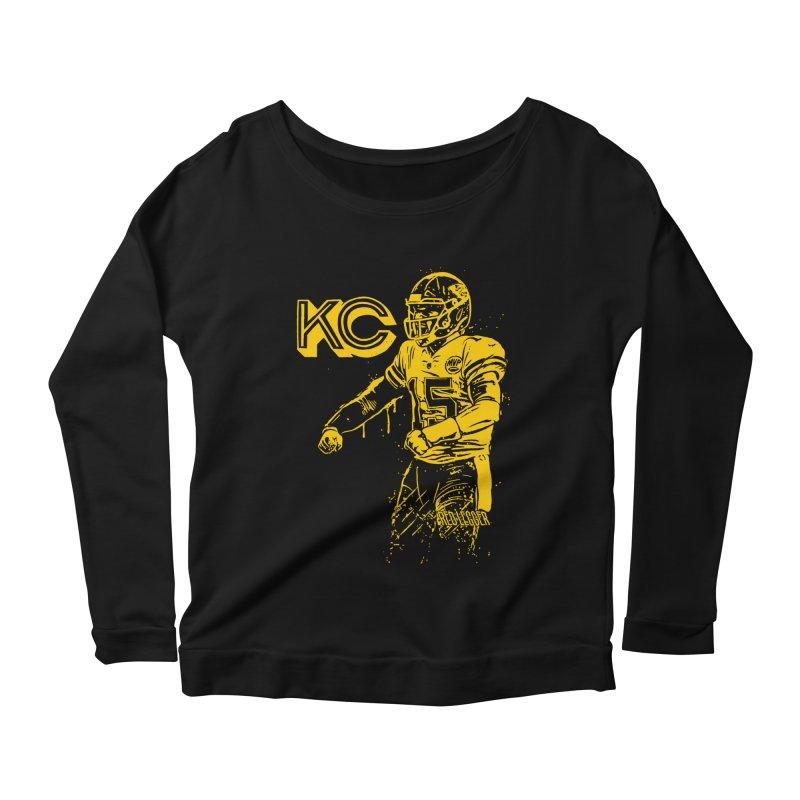 MVP (Yellow) Women's Scoop Neck Longsleeve T-Shirt by redleggerstudio's Shop
