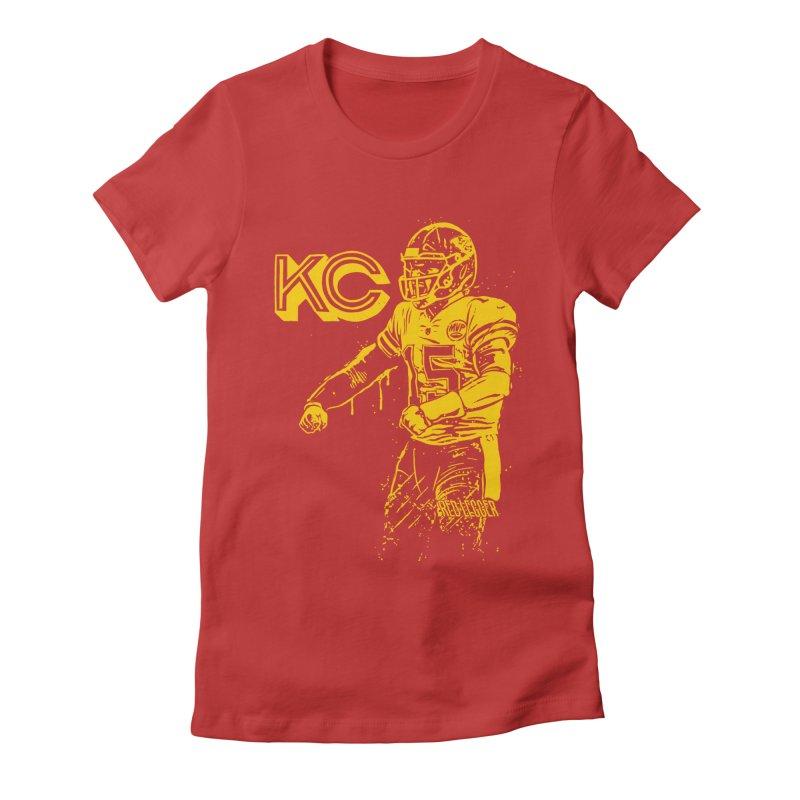 MVP (Yellow) Women's Fitted T-Shirt by redleggerstudio's Shop
