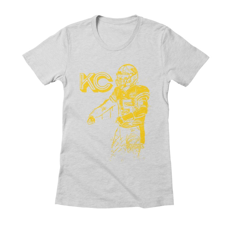 MVP (Yellow) Women's Fitted T-Shirt by redleggerstudio's Shop
