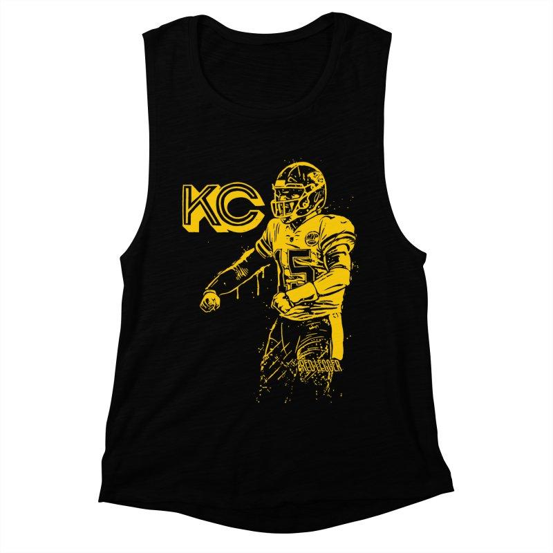 MVP (Yellow) Women's Muscle Tank by redleggerstudio's Shop