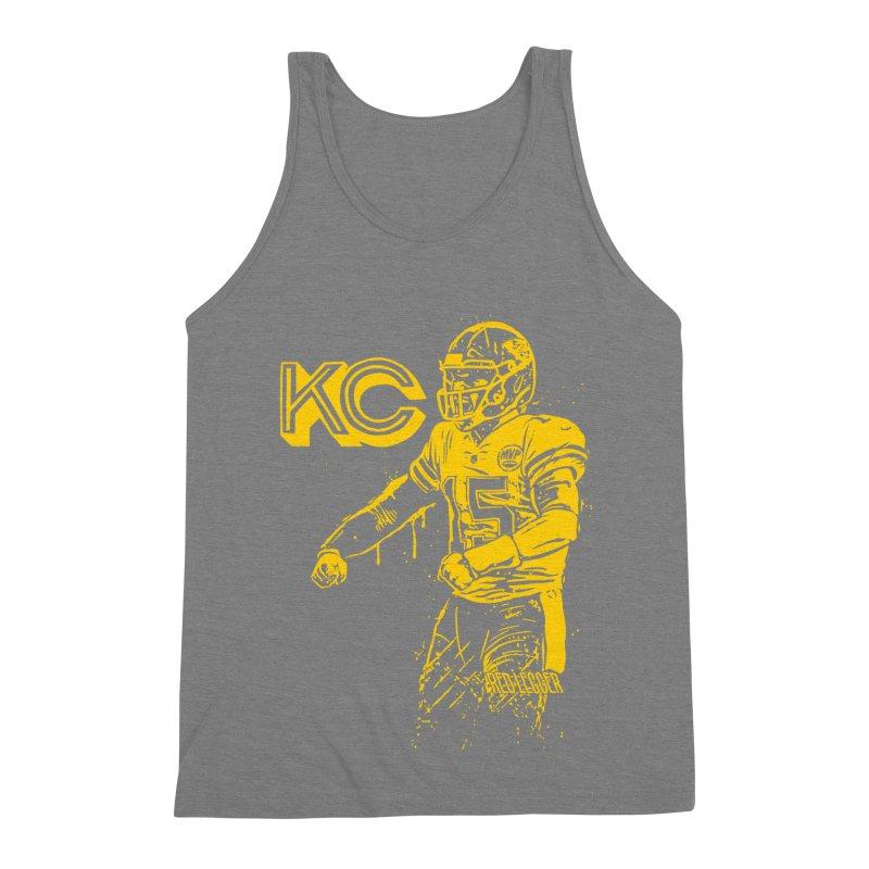 MVP (Yellow) Men's Triblend Tank by redleggerstudio's Shop