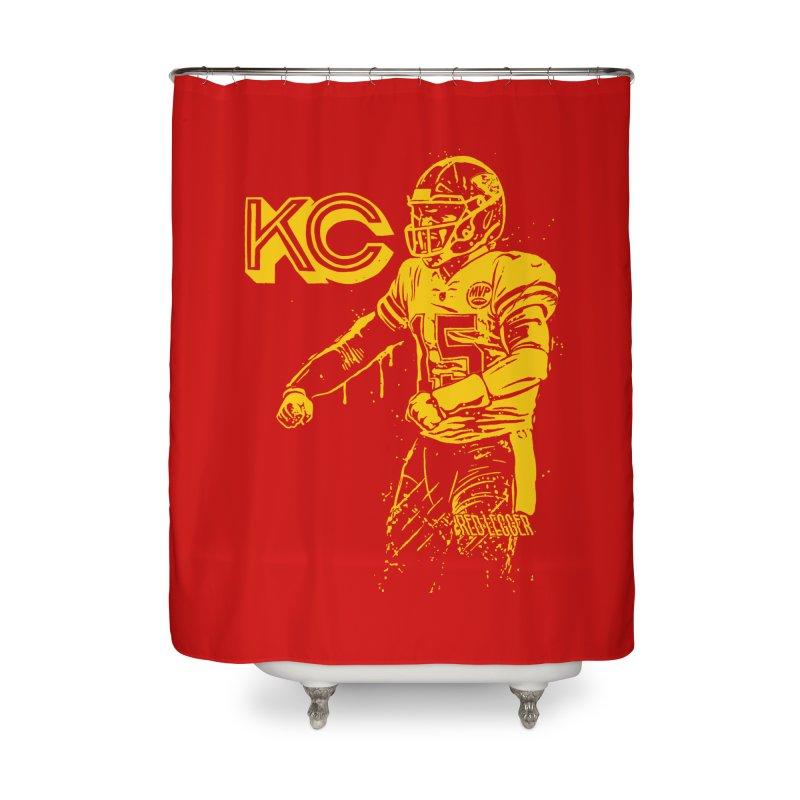 MVP (Yellow) Home Shower Curtain by redleggerstudio's Shop