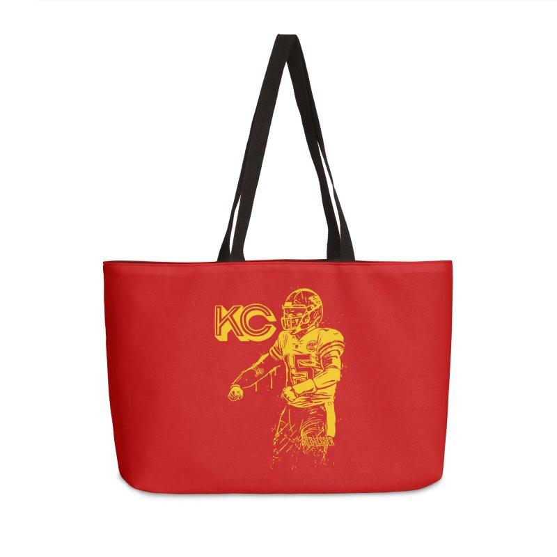 MVP (Yellow) Accessories Weekender Bag Bag by redleggerstudio's Shop