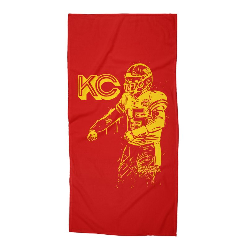 MVP (Yellow) Accessories Beach Towel by redleggerstudio's Shop