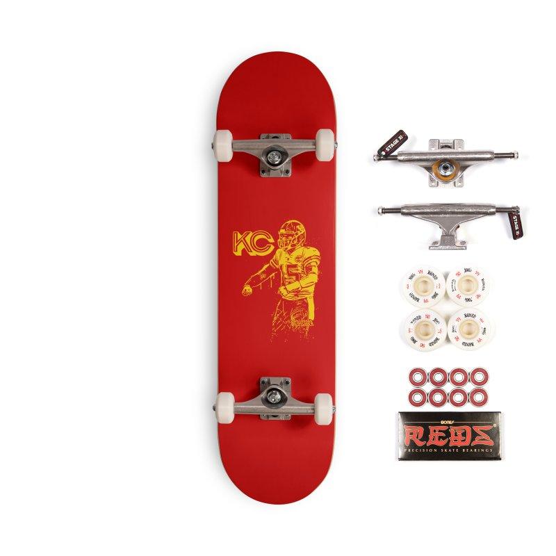 MVP (Yellow) Accessories Complete - Pro Skateboard by redleggerstudio's Shop