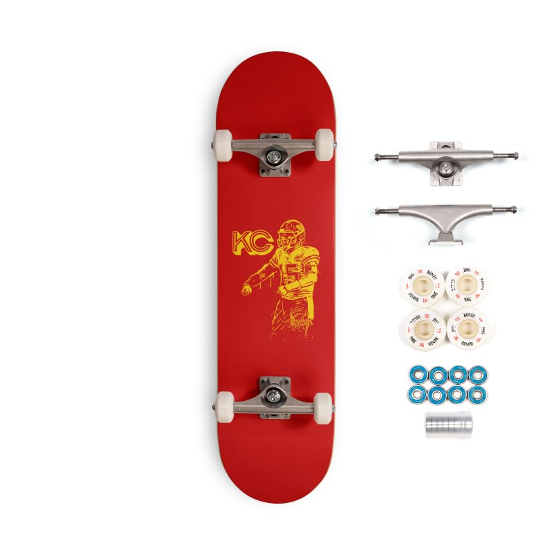 MVP (Yellow) Accessories Complete - Premium Skateboard by redleggerstudio's Shop