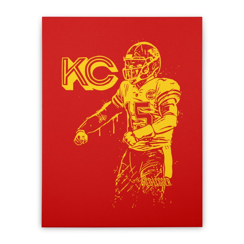 MVP (Yellow) Home Stretched Canvas by redleggerstudio's Shop