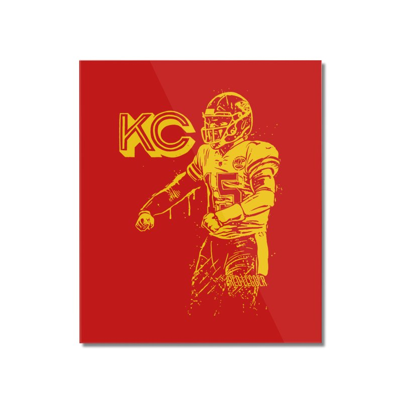 MVP (Yellow) Home Mounted Acrylic Print by redleggerstudio's Shop