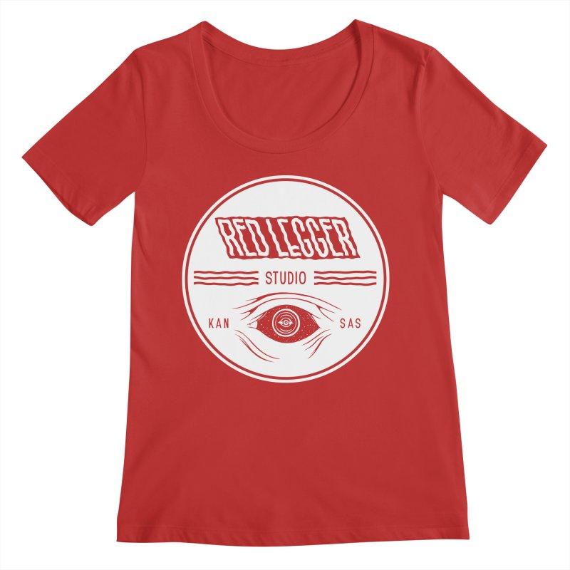 Red Legger KansEye Women's Regular Scoop Neck by redleggerstudio's Shop