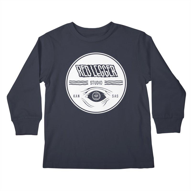 Red Legger KansEye Kids Longsleeve T-Shirt by redleggerstudio's Shop