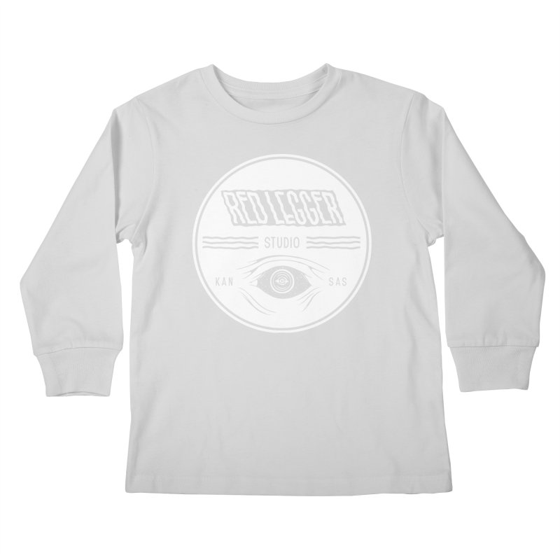 Red Legger KansEye Kids Longsleeve T-Shirt by redleggerstudio's Shop