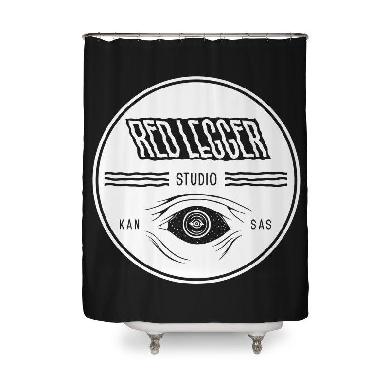 Red Legger KansEye Home Shower Curtain by redleggerstudio's Shop