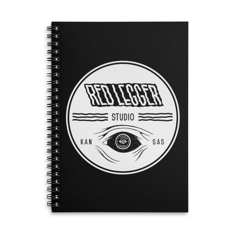 Red Legger KansEye Accessories Lined Spiral Notebook by redleggerstudio's Shop