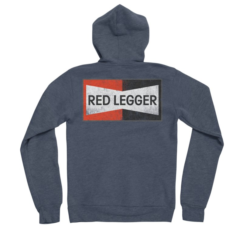 Red Legger Champion Men's Sponge Fleece Zip-Up Hoody by redleggerstudio's Shop