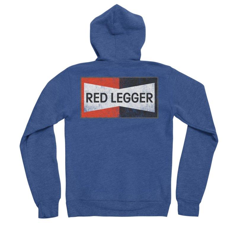 Red Legger Champion Men's Sponge Fleece Zip-Up Hoody by redleggerstudio's Shop
