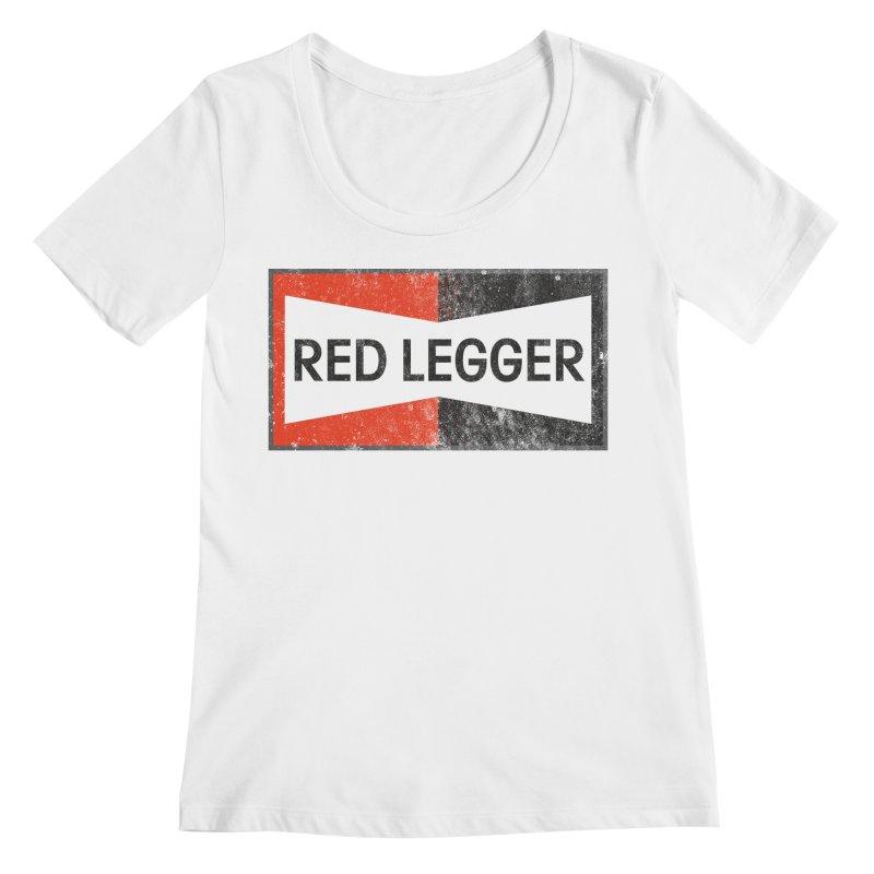 Red Legger Champion Women's Regular Scoop Neck by redleggerstudio's Shop