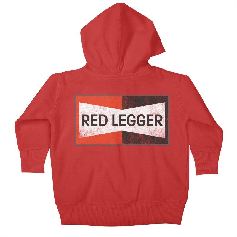 Red Legger Champion Kids Baby Zip-Up Hoody by redleggerstudio's Shop