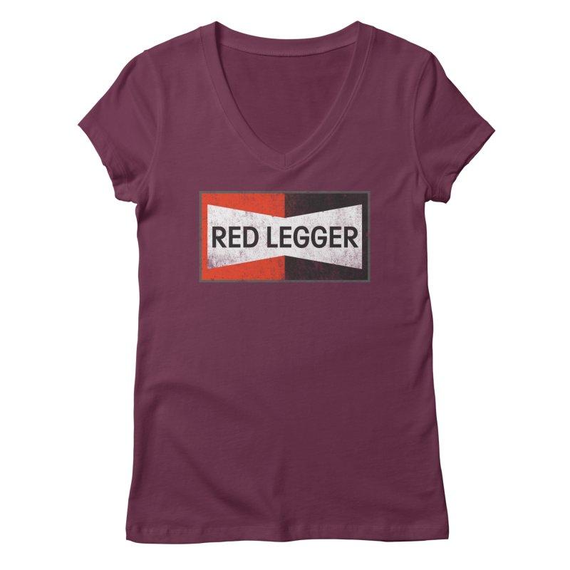 Red Legger Champion Women's Regular V-Neck by redleggerstudio's Shop
