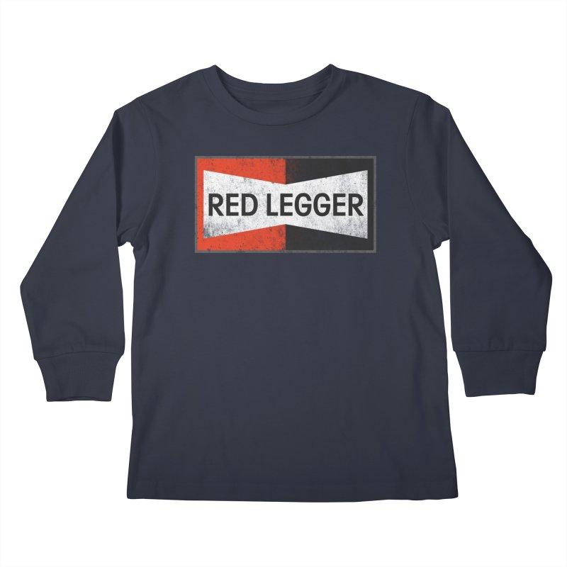 Red Legger Champion Kids Longsleeve T-Shirt by redleggerstudio's Shop