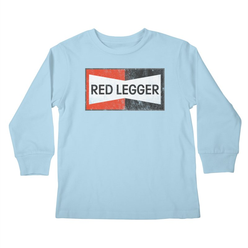 Red Legger Champion Kids Longsleeve T-Shirt by redleggerstudio's Shop